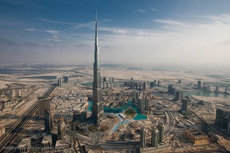 Вертолетная прогулка над Дубаем